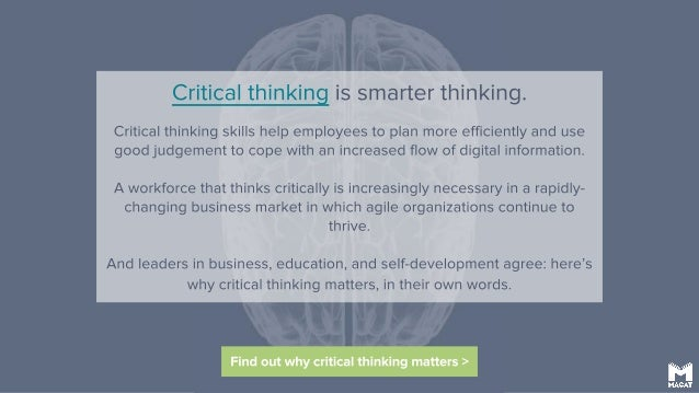 Learn to think critically
