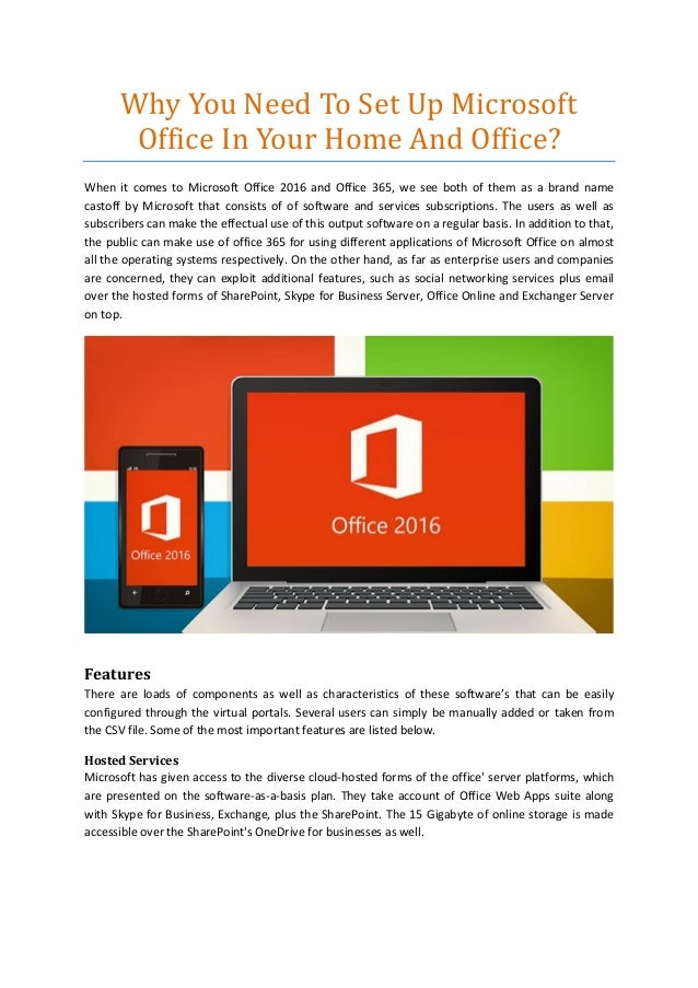 Why You Need To Set Up Microsoft Office In Your Home And