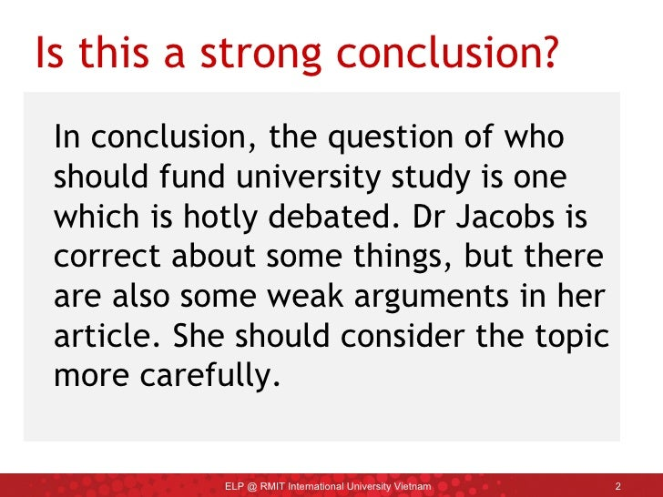 Strong conclusion