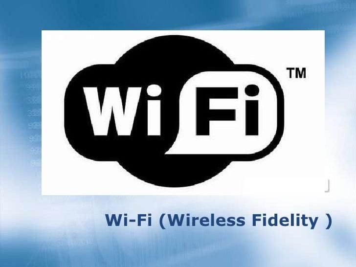 > 2002-2003 Earning Projections    Wi-Fi (Wireless Fidelity )