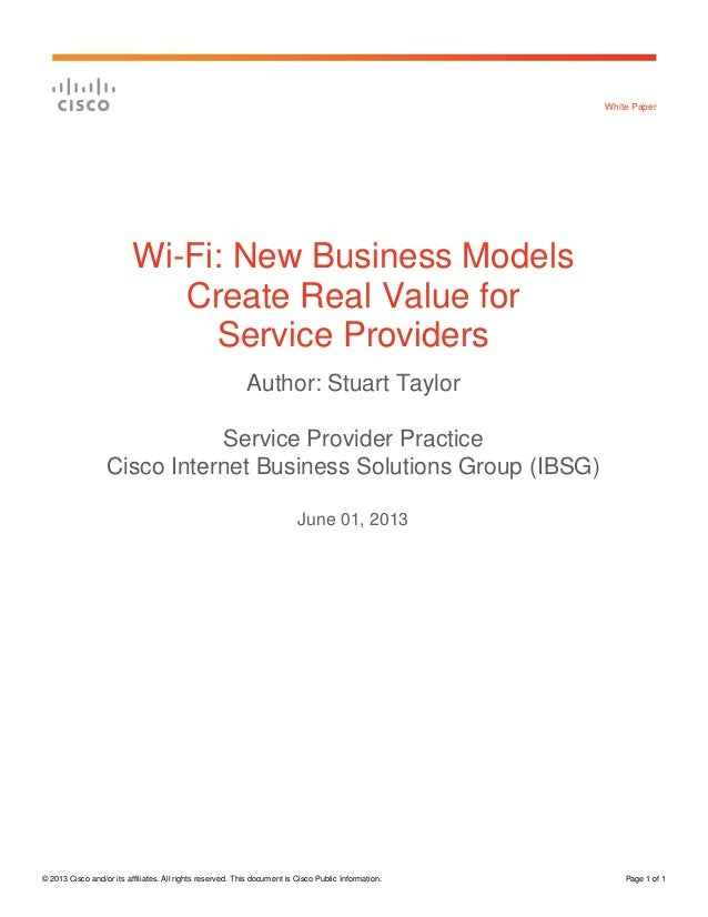 © 2013 Cisco and/or its affiliates. All rights reserved. This document is Cisco Public Information. Page 1 of 1White Paper...