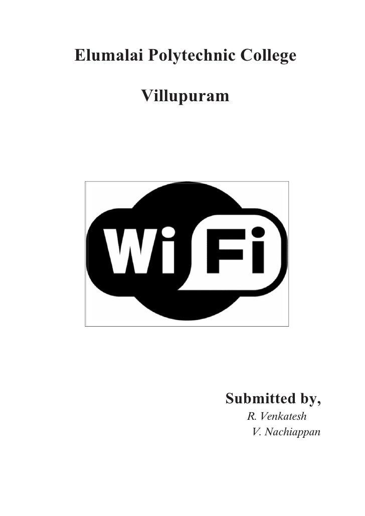 Elumalai Polytechnic College          Villupuram                        Submitted by,                      R. Venkatesh   ...
