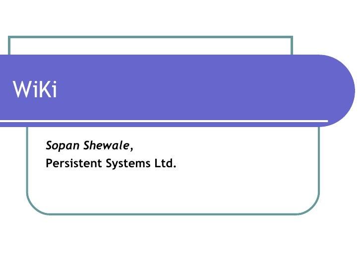 Wi Ki Presentation