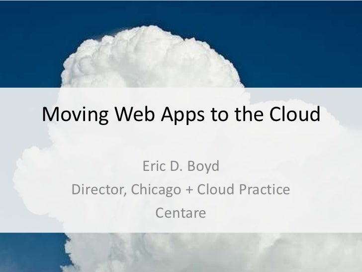 WI .NET UG - Moving Web Apps to the Cloud