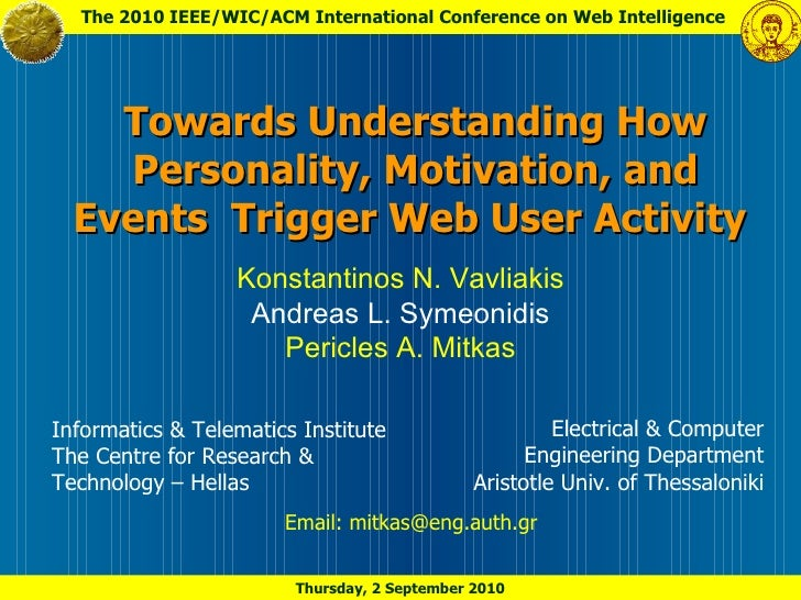 Towards Understanding How Personality, Motivation, and Events Trigger Web User Activity
