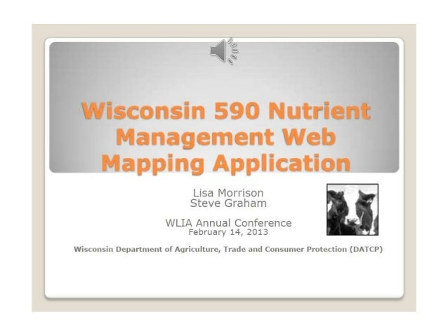 Wi 590 nutrient management web application   lisa morrison