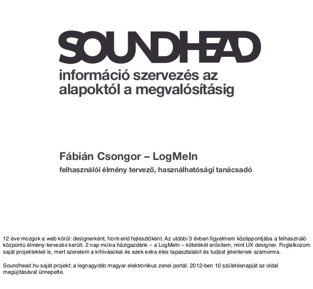 Information Architecture for Soundhead.hu (Hungarian)