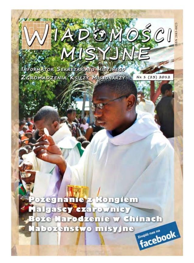 Wiadomosci misyjne nr 23 (1/2012)