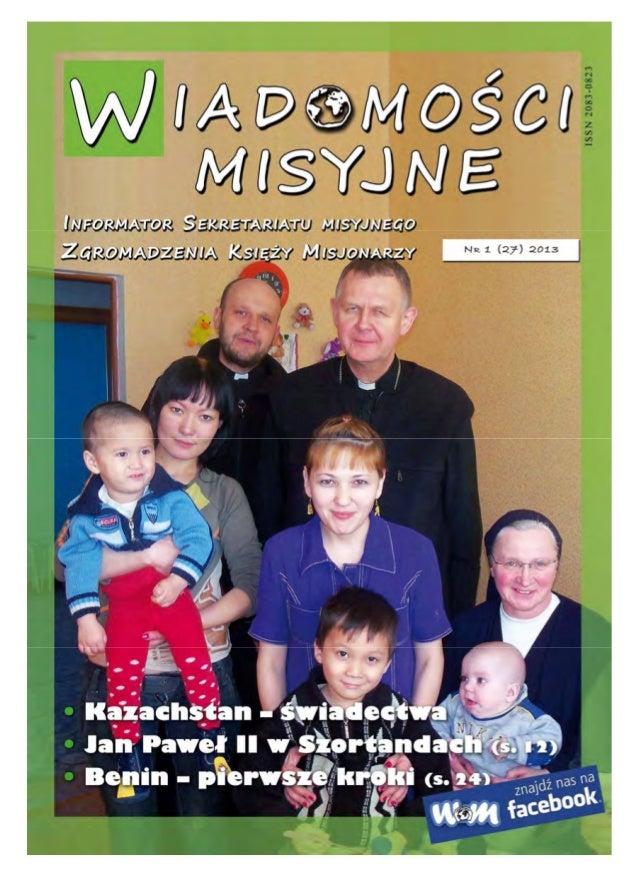 Wiadomości Misyjne nr 27 (1/2013)