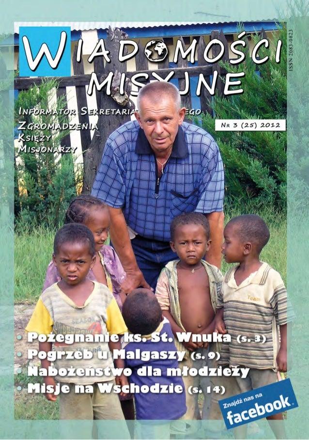 Wiadomosci misyjne nr 25 (3/2012)