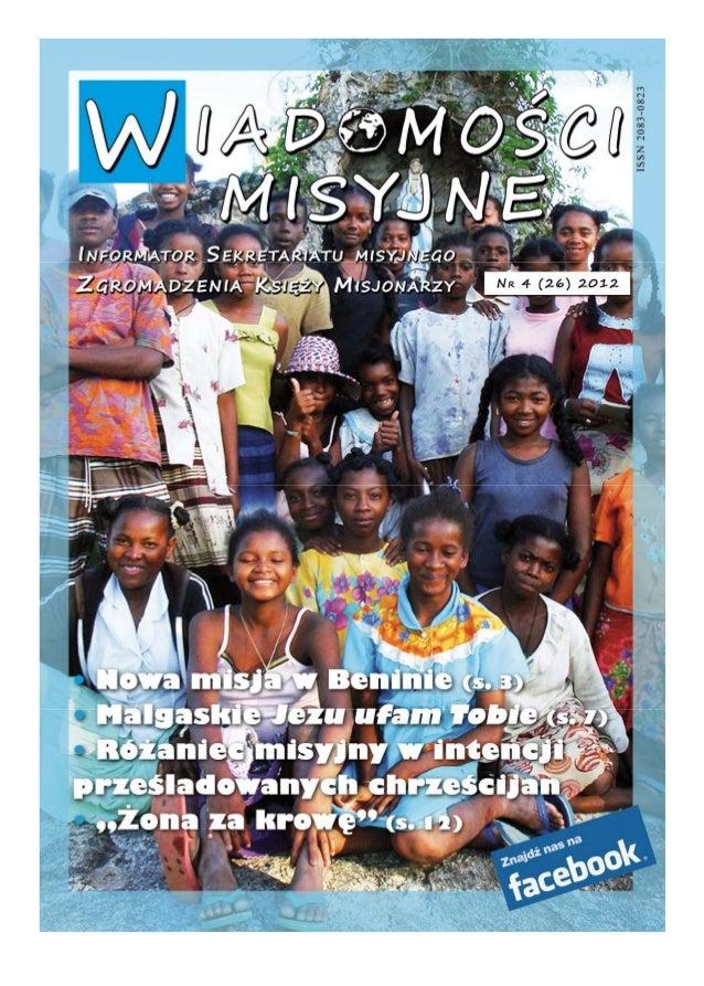 Wiadomosci misyjne nr 26 (4/2012)