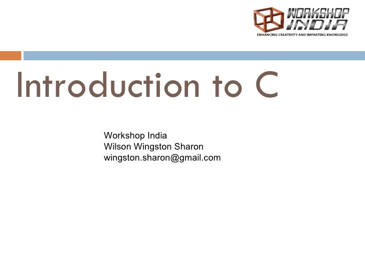 Introduction to Basic C programming 01