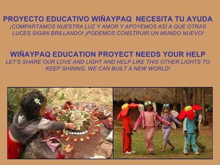 PROYECTO EDUCATIVO WIÑAYPAQ