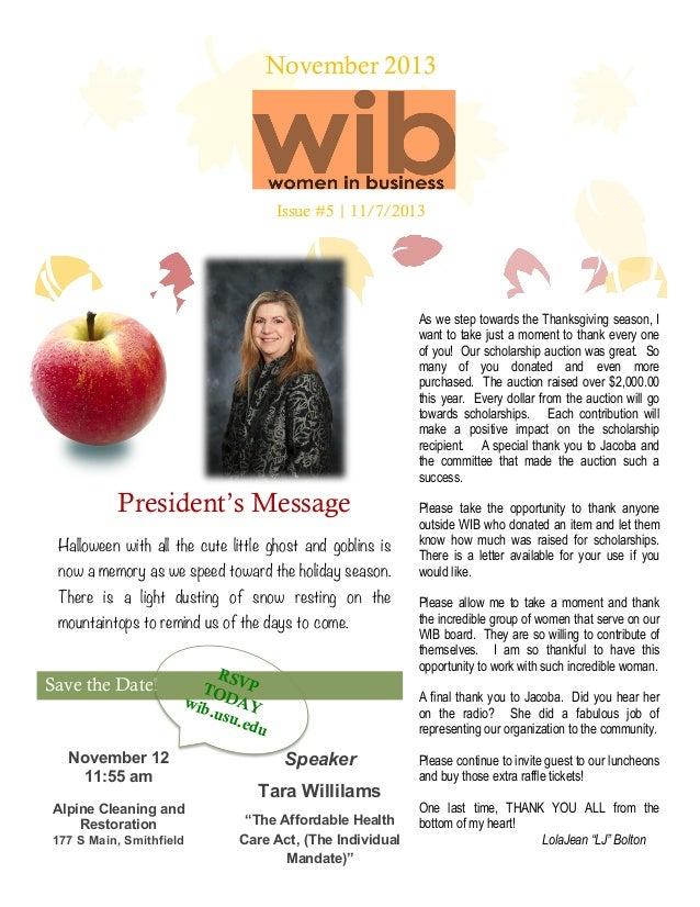 November 2013 Women in Business