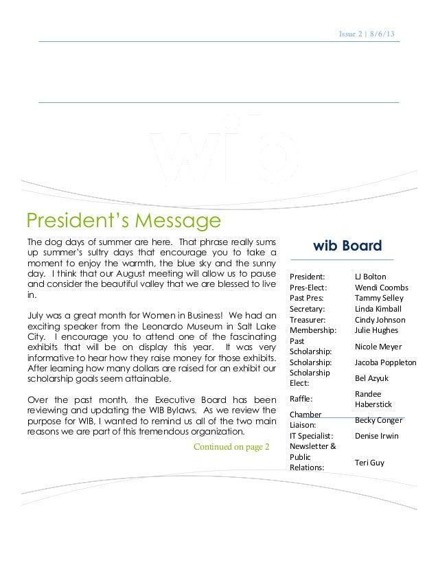 Wib 8 13 newsletter