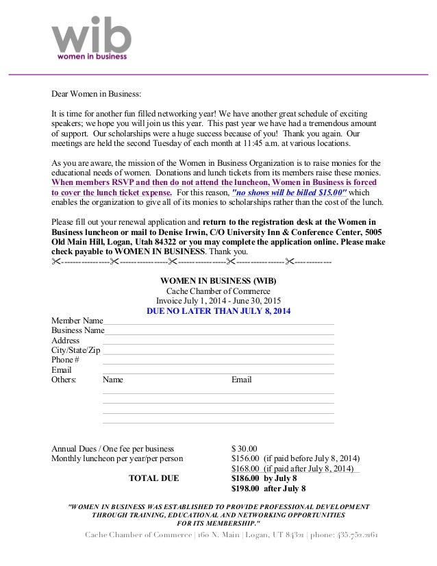 Women in Business Cache Valley Utah--Membership form