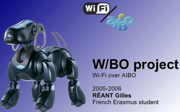 W/BO project - Wi-Fi over AIBO