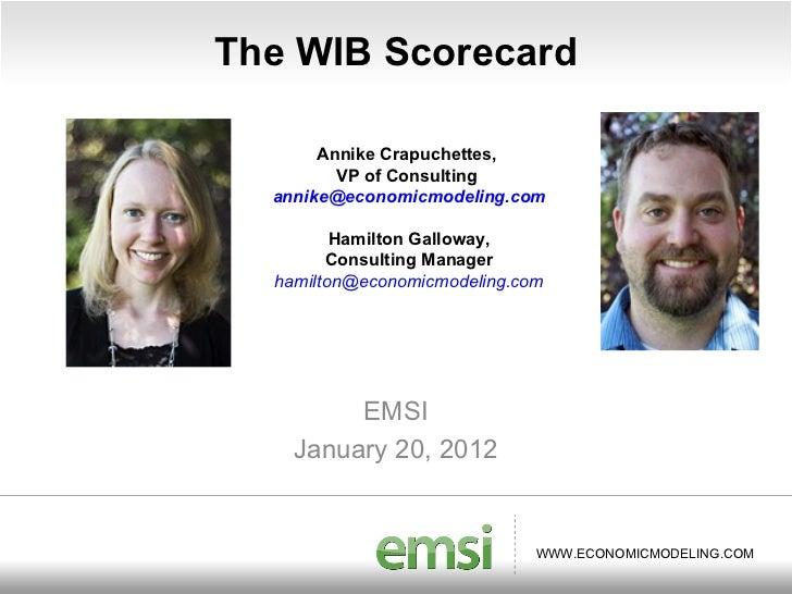 WIB Scorecard