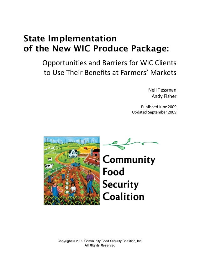 State Implementation of the New WIC Produce Package: