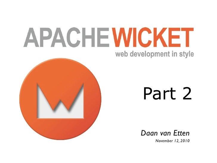 Part 2Daan van Etten    November 12, 2010