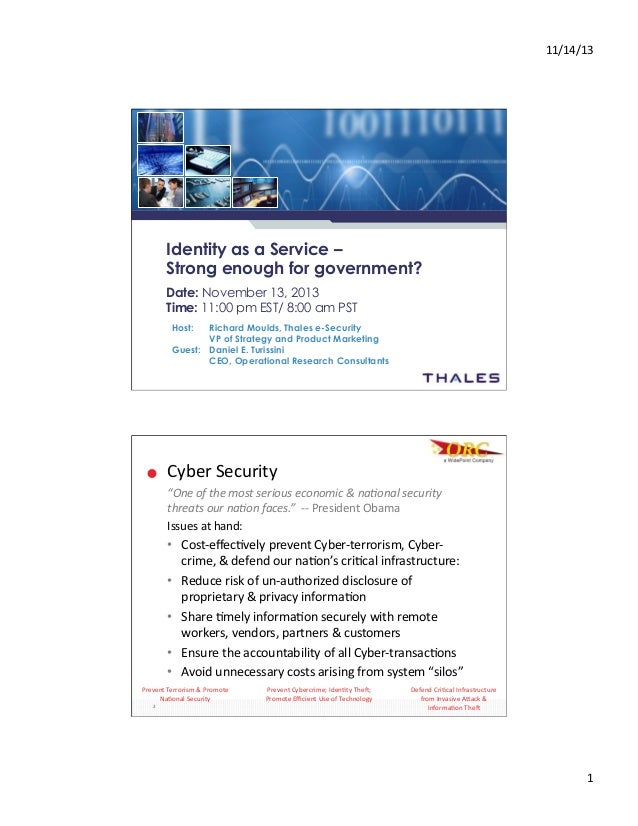 Widepoint orc thales webinar 111313d - nov 2013