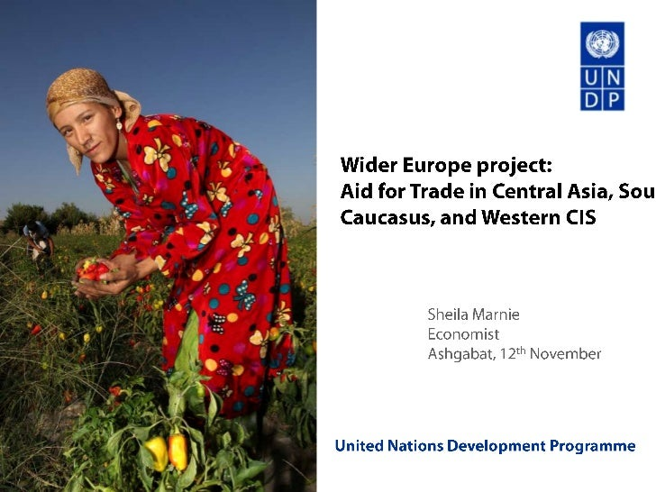 Wider Europe project: Aid for trade in Central Asia, South Caucasus, and Western CIS