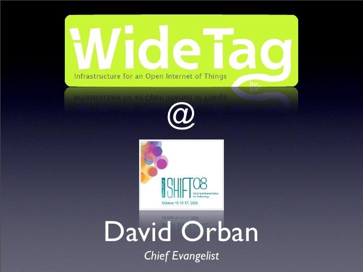 @   David Orban   Chief Evangelist