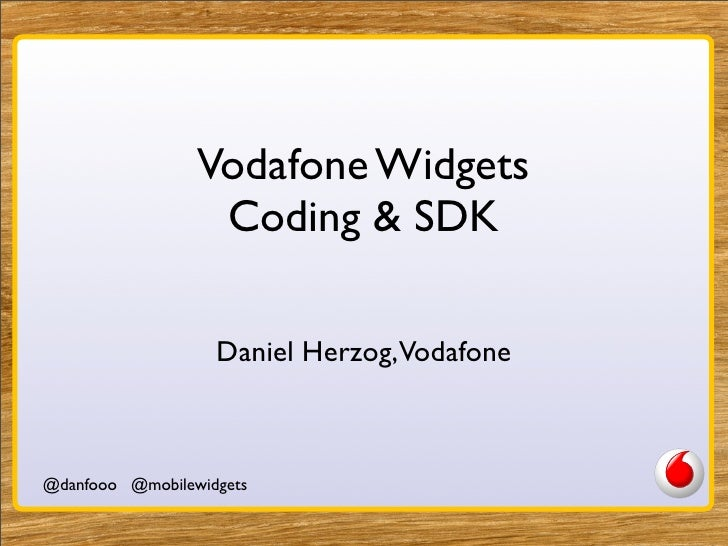 Widget Development And SDK