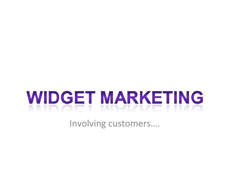 Widget Marketing