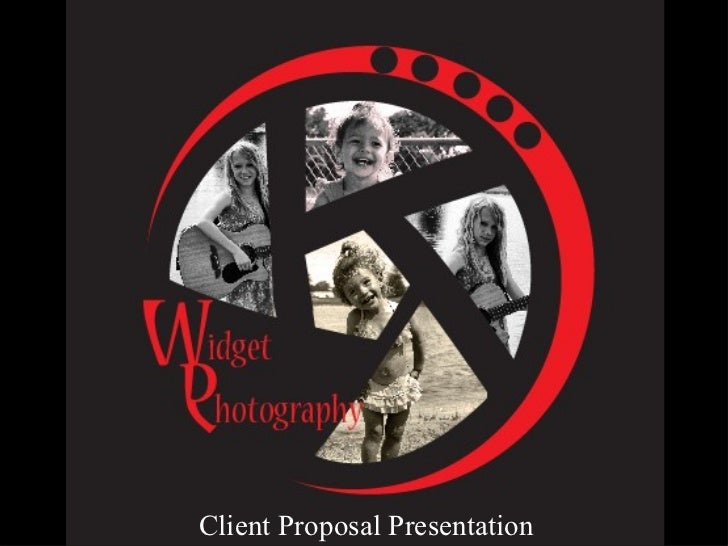 Widget photography presentation