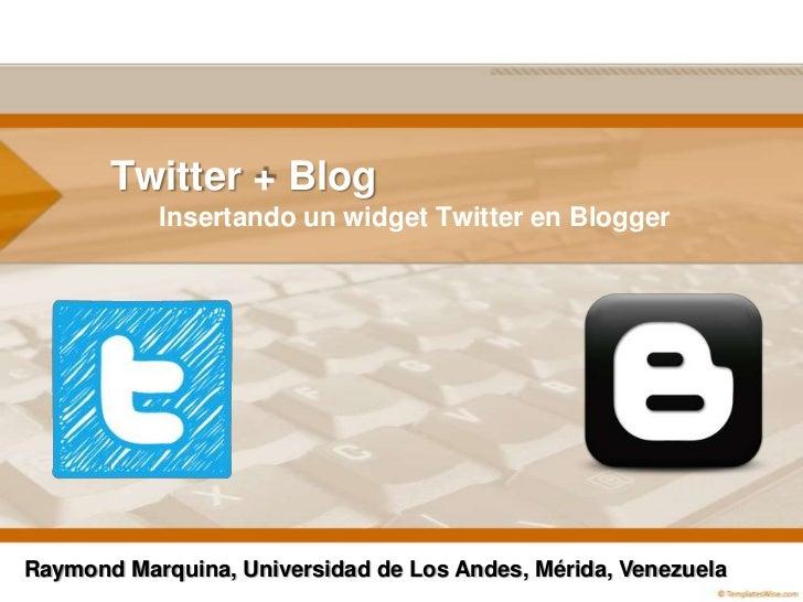 Widget twitter en Blogger
