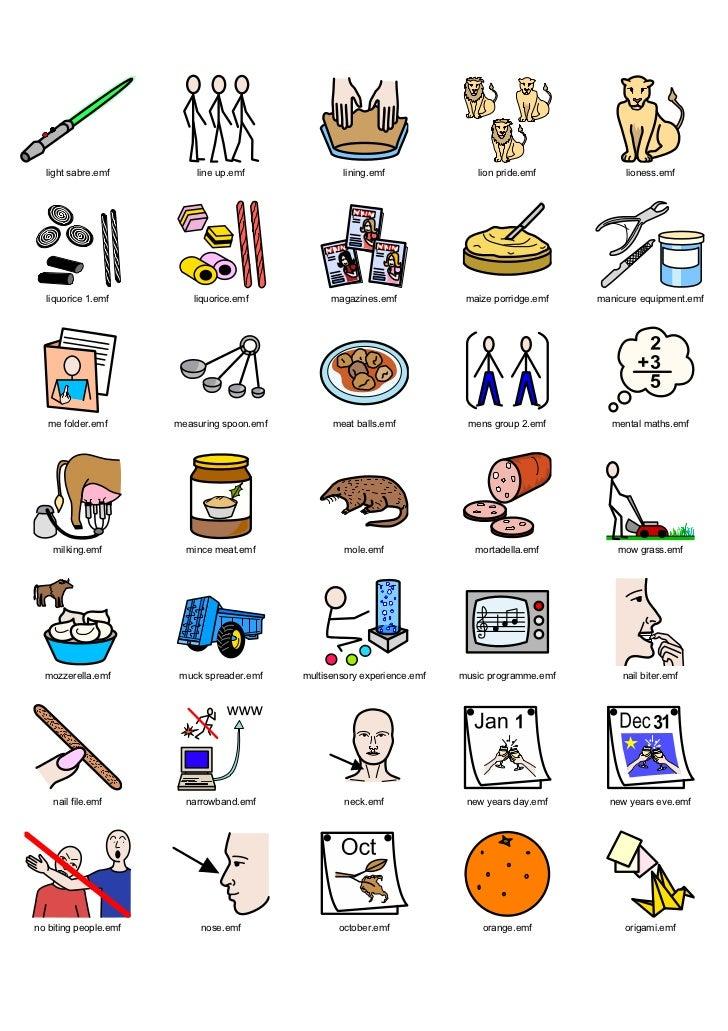 Widgit Symbol Dictionary Winter 2008