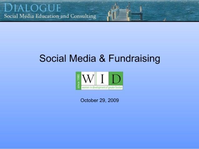Fundraising and Social Media
