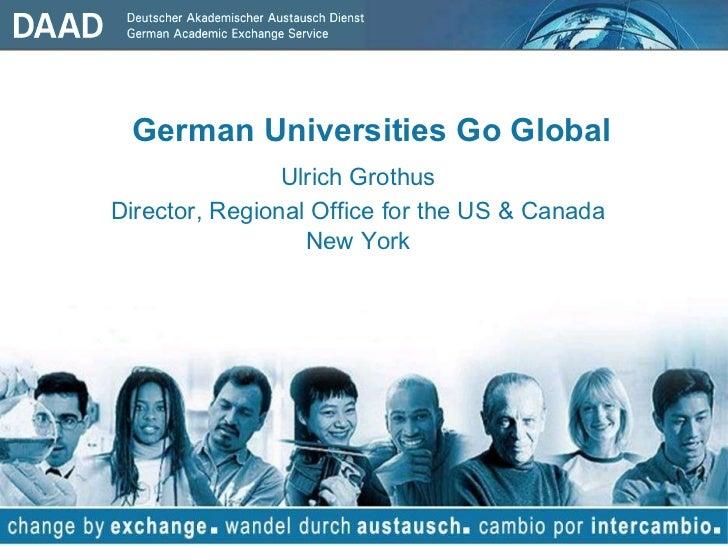 German Universities Go Global