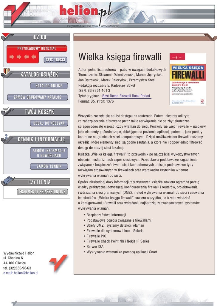 Wielka księga firewalli