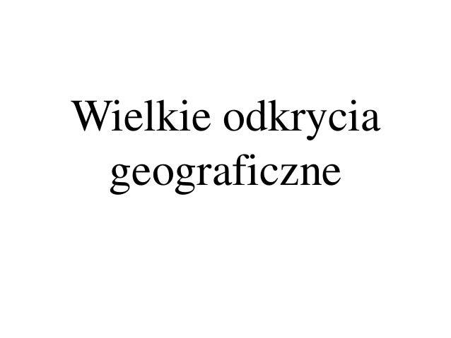 Wielkie odkrycia geograficzne