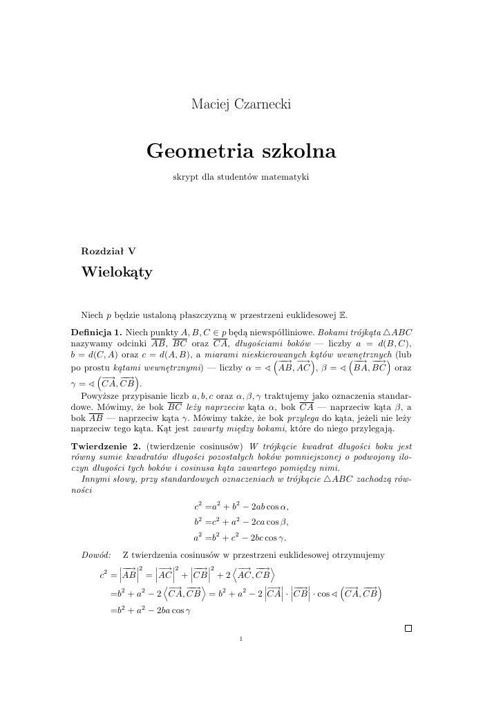 Geometria - wielokąty