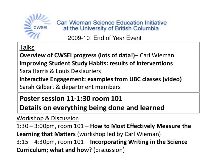 Carl Wieman Science Education Initiative