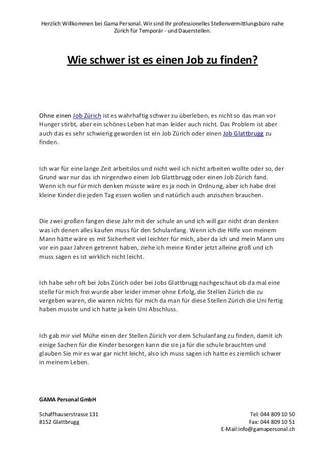 Herzlich Willkommen bei Gama Personal. Wir sind Ihr professionelles Stellenvermittlungsbüro nahe Zürich für Temporär - und...