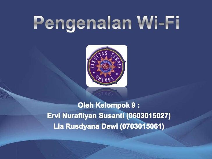 Pengenalan Wifi