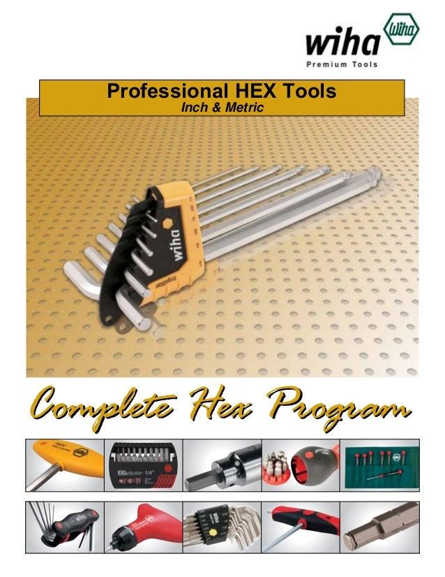 Professional HEX Tools Inch & Metric  Complete Hex Program