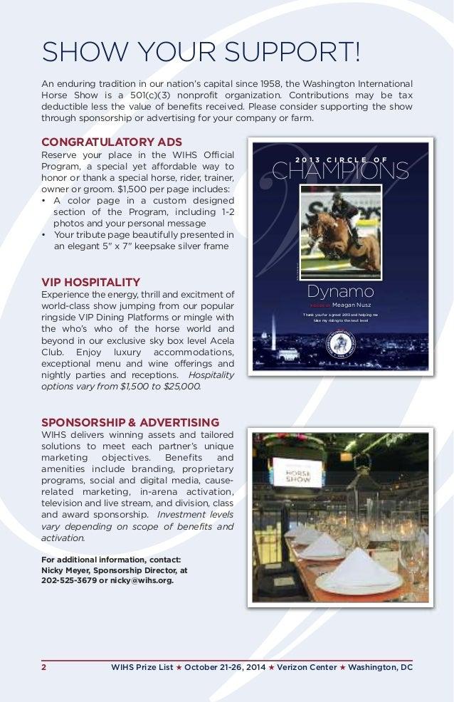Washington International Horse Show 2014 International Horse Show