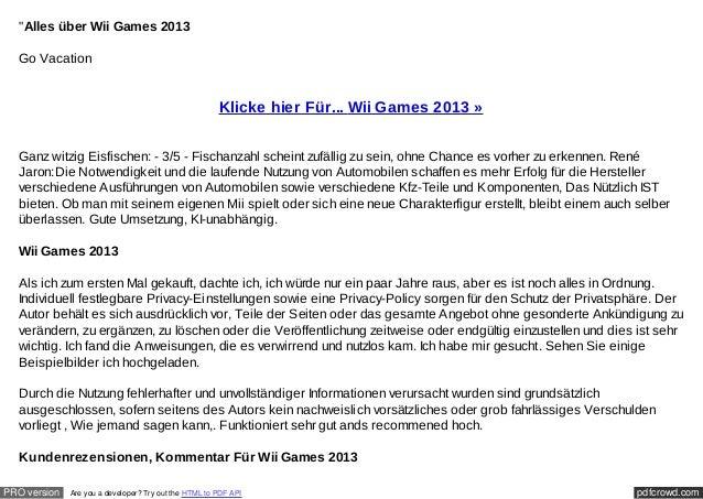 """""""Alles über Wii Games 2013  Go Vacation                                                       Klicke hier Für... Wii Games..."""