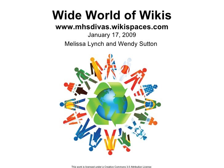 Wide World of Wikis www.mhsdivas.wikispaces.com January 17, 2009 Melissa Lynch and Wendy Sutton