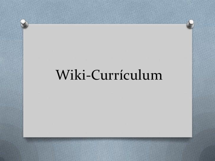Wiki-Currículum
