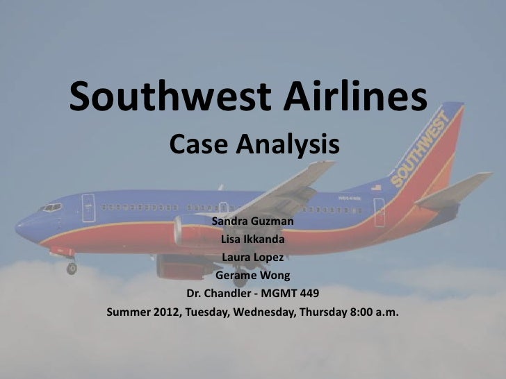 southwest airline case analysis Answer to southwest airlines company introduction southwest airlines co is a major u airline that primarily provides short haul, high-frequency.