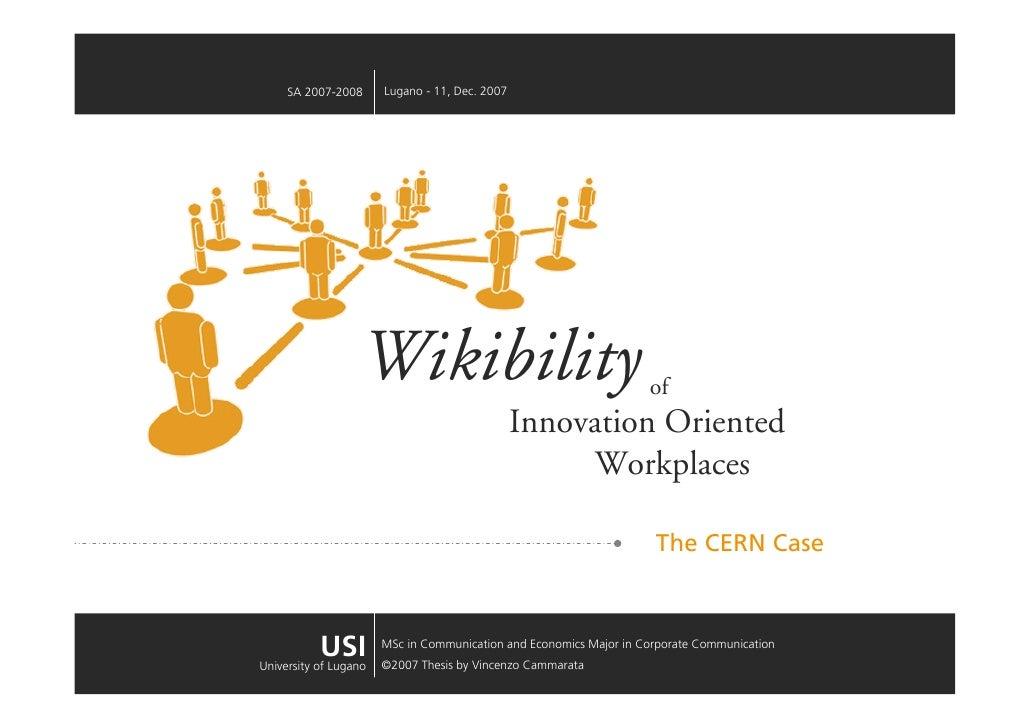 Lugano - 11, Dec. 2007      SA 2007-2008                        Wikibility                                       of       ...