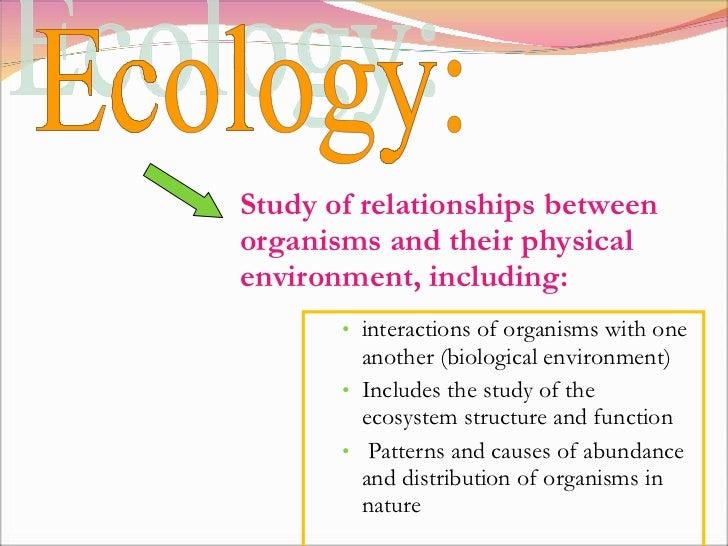 <ul><ul><li>interactions of organisms with one another (biological environment) </li></ul></ul><ul><ul><li>Includes the st...