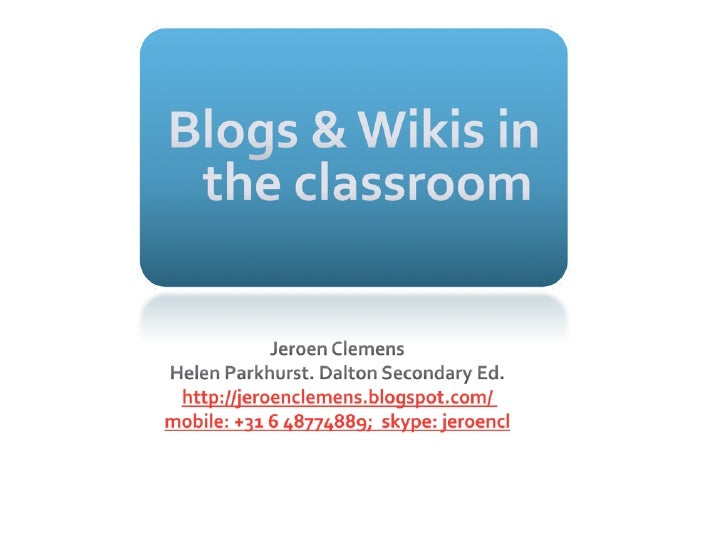 Educational HP• collaborative learning• international perspective• ICT to improve learning• adaptive to learners• reflectio...