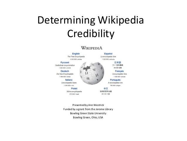 Wiki credibility